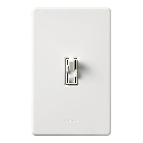LUT AY2-LFSQ-WH ARIADNI 300W INCANDESCENT SINGLE POLE DIMMER AND 3 SPEED FAN CONTROL, WHITE