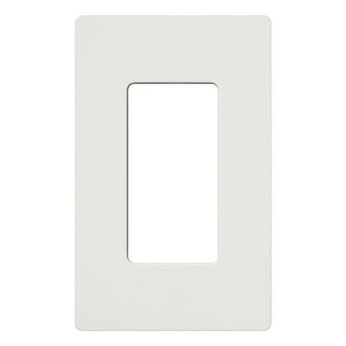 Lutron CW-1-WH 1-Gang White Polycarbonate Standard 1-Dimmer Designer Wallplate