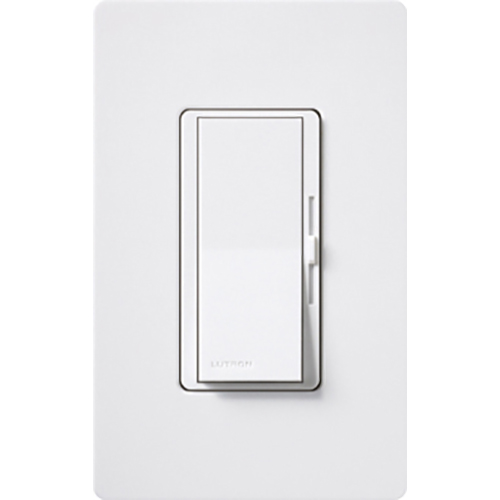Lutron DV-10PH-WH Diva Incandescent 1000 W White Clamshell Dimmer