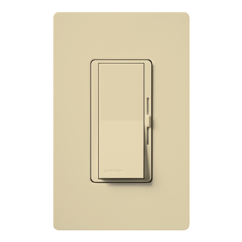 Lutron DV-603PH-IV Diva Incandescent 600 W 3-Way Ivory Clamshell Dimmer