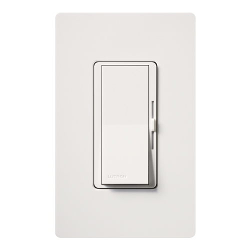 LUT DVLV-600P-WH DIVA 600W MAGNETIC LOW VOLTAGE SINGLE POLE DIMMER, WHITE