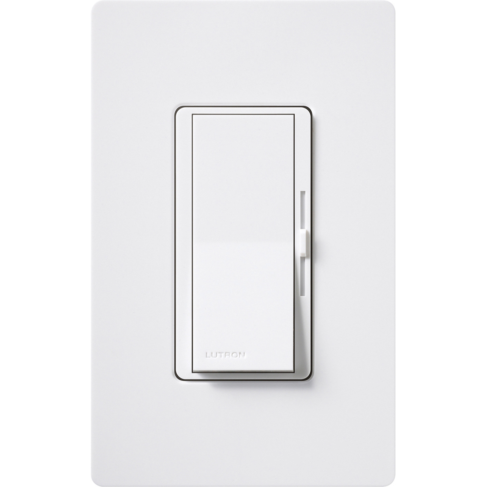 LUT DVSTV-WH DIVA 0-10V SINGLE POLE/3 WAY DIMMER NO NEUTRAL REQUIRED, WHITE
