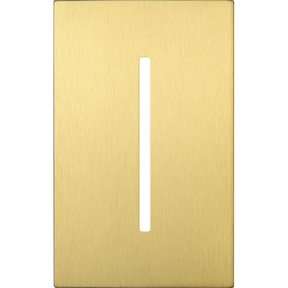 NEW ARCH WP - GRAFIKT 1GANG SATIN BRASS