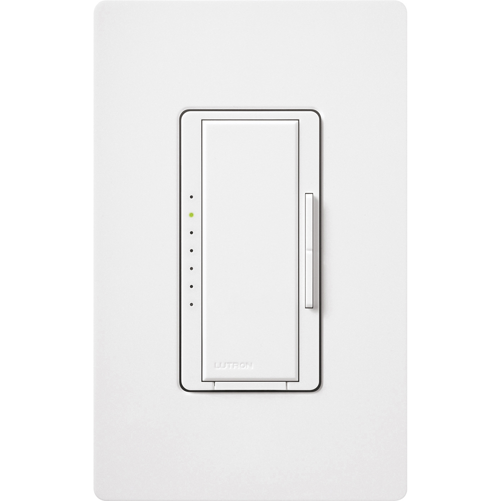 LUT MA-PRO-WH Universal 3-Way Dimmer w/ Claro Wallplate, Forward or Reverse Phase - White NEWSTOCK MAY 2019