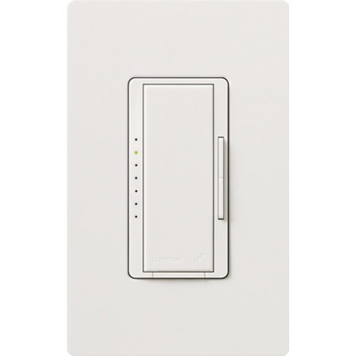 Lutron® Maestro MRF2-6CL-WH 3-Way Multi-Location Dimmer, 120 VAC, 1 Pole, White