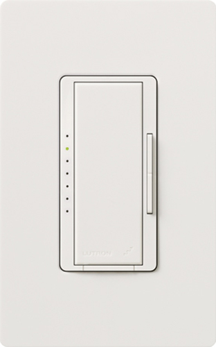 LUT MRF2-F6AN-DV-WH MAESTRO 3 WIRE FLUORESCENT DIMMER WITH NEUTRAL 6 AMP 120/277V WHITE WHT