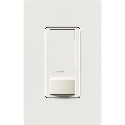 Lutron MS-OPS6M2-DV-WH White Multi Switch w/ Occupancy/ Vacancy Sensor 120/277V, 6 Amp Light, No Neutral Required (Incandescent, Halogen, MLV, ELV, CFL, LED, Magnetic & Electronic Fluorescent) Auto/Manual On-Off (Decora Plate Not Included)