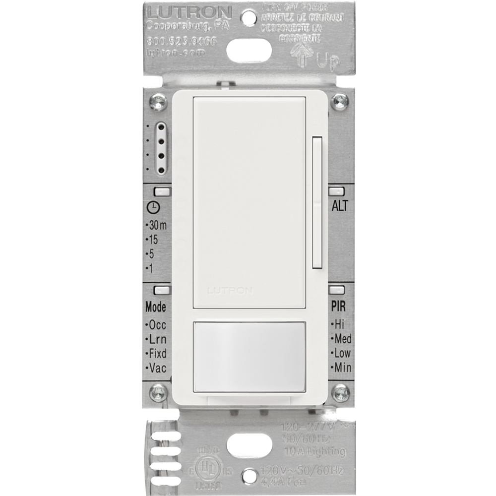 LUT MS-Z101-WH MAESTRO 0-10V DIMMER AND PASSIVE INFRARED OCCUPANCY/VACANCY SENSOR, WHITE