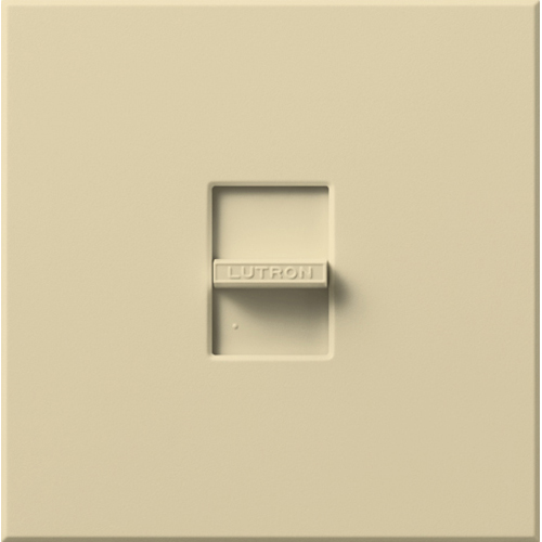 WALL DIMMER; LINEAR SLIDE TO OFF SWITCH OPERATOR; OPERATION TYPE SINGLE POLE; 120 VAC AT 60 HZ; FLUORESCENT/MAGNETIC LOAD; 30 LAMP LOAD; 1-GANG IVORY FINISH WALL PLATE; IVORY; SIZE 4.5 INCH W X 1.93 INCH D X 4.5 INCH H