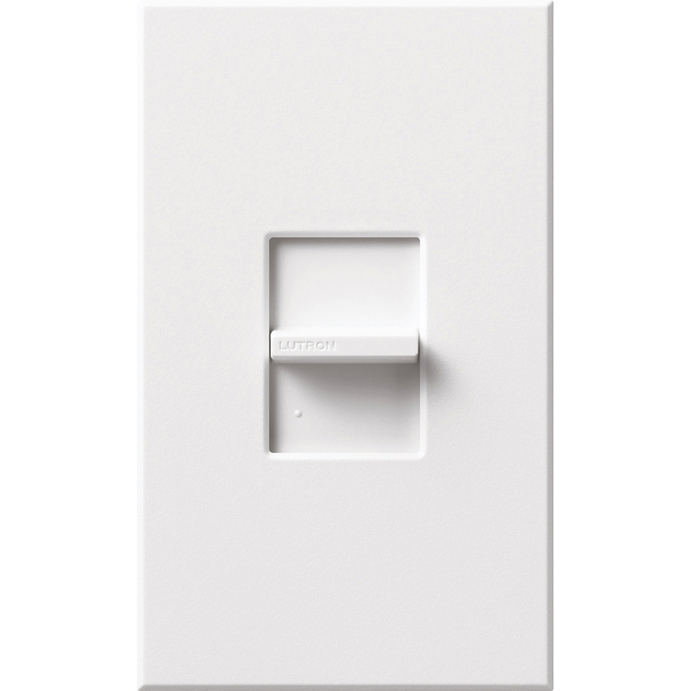 Lutron NT-1PS-WH 120/277 VAC 20 Amp 1-Pole Brass/Copper Terminal White Linear Slide Switch