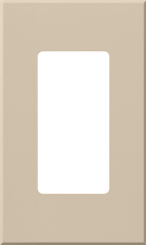 ARCH WALLPLATE 1 GANG - ACC TAUPE
