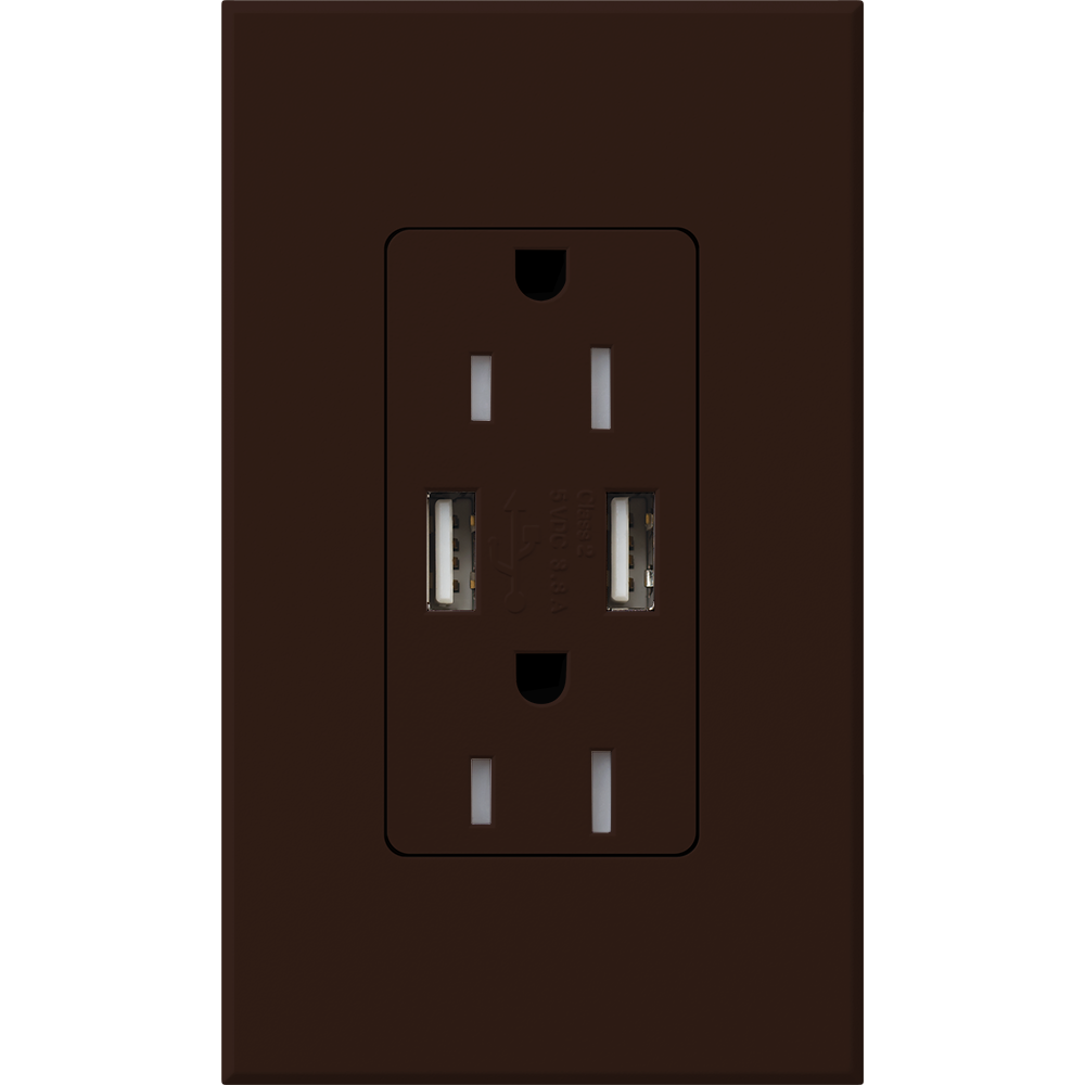 NT 15A USB TAMPER RESIST BROWN