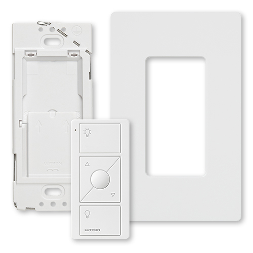 Pico® PJ2-WALL-WH-L01 PJ2 Remote Control Kit, For Use With Wireless Load Control Devices, 3 VDC, White