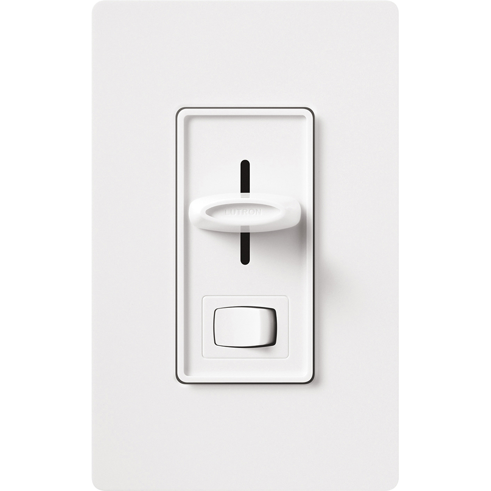Lutron S-600PH-WH 600 W 120 VAC White 1-Pole Incandescent/Halogen Preset Slide Dimmer with On-Off Switch