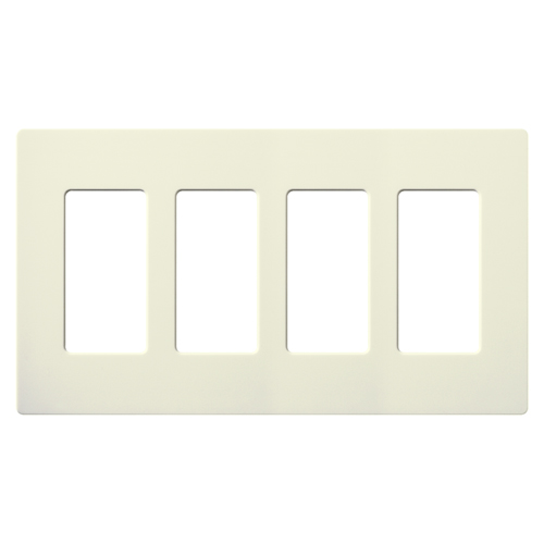 SATIN COLOR 4-GANG WALLPLATE BISCUIT