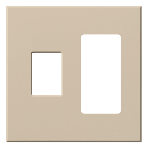 VAREO WALLPLATE 2GNG CONT/RCPT TAUPE