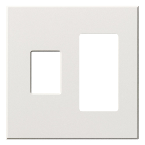 VAREO WALLPLATE 2GNG CONT/RCPT WHITE